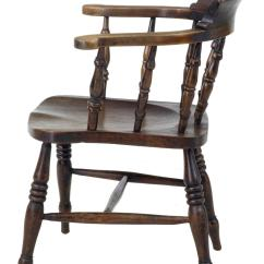 Z Shaped High Chair Walker Transport Early 20th Century Set Of Eight Elm Captains Elbow