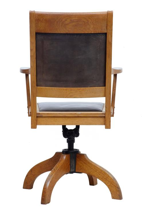 leather directors chair good desk chairs 1920s oak and office at 1stdibs