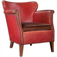 Red Club Chair Outdoor Bistro Chairs Leather At 1stdibs