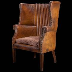 Wingback Chair For Sale Floor Chairs Adults Barrel Back Leather Wing At 1stdibs