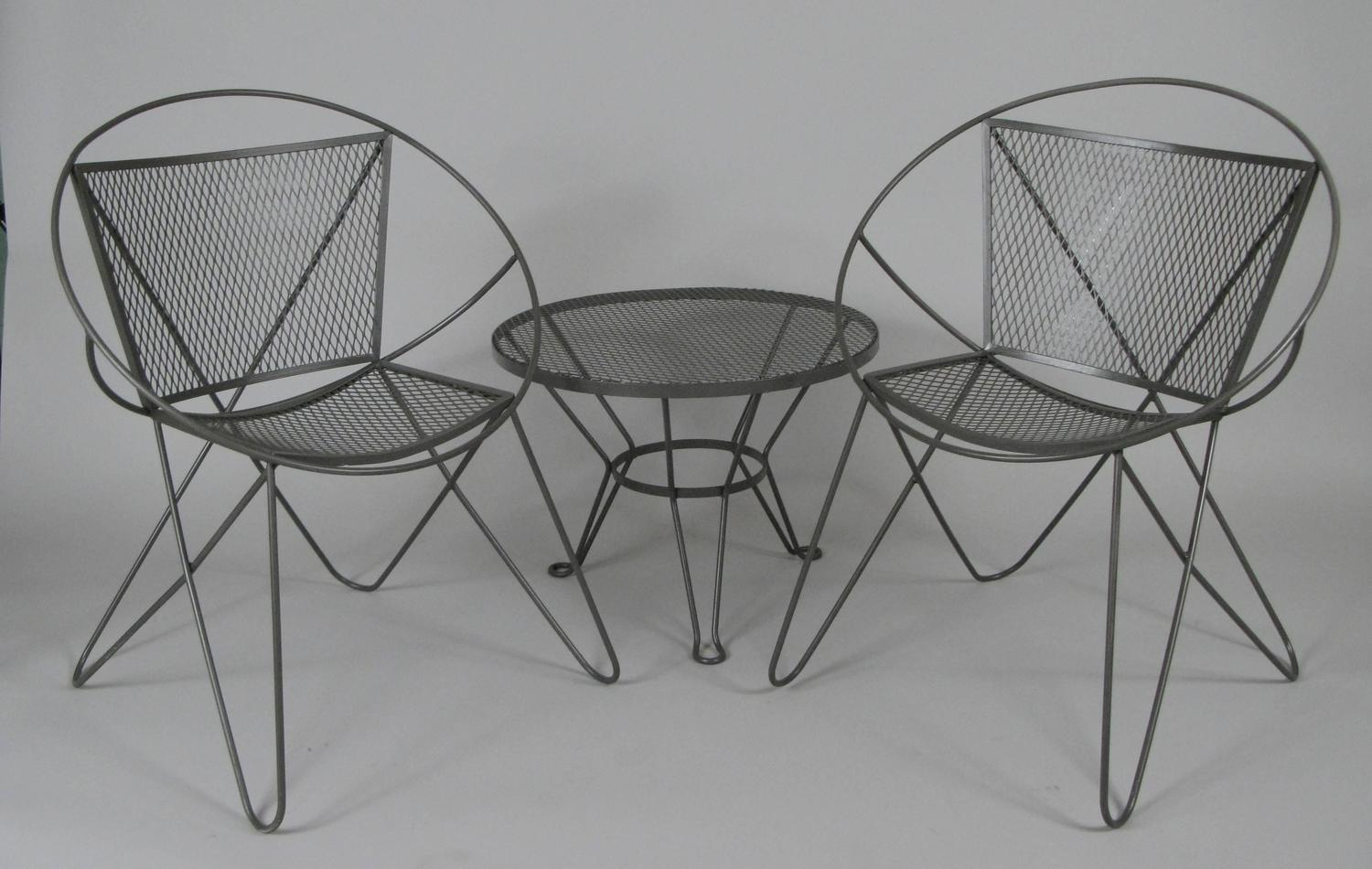 vintage wrought iron table and chairs chair covers to hire in cape town 1960s garden by