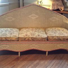 1930 Cane Back Sofa L Shaped Broken White Leather Sectional With Recliner And Chaise Antique 1930s Wicker Pair Of Chairs At 1stdibs