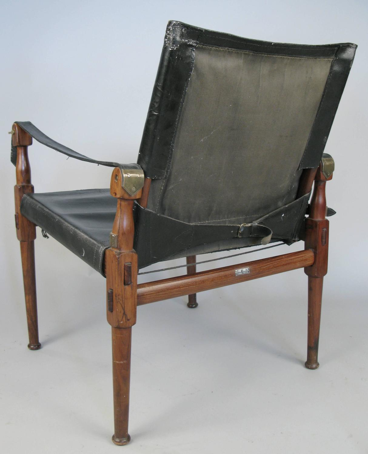 leather safari chair massage albuquerque vintage rosewood and campaign by