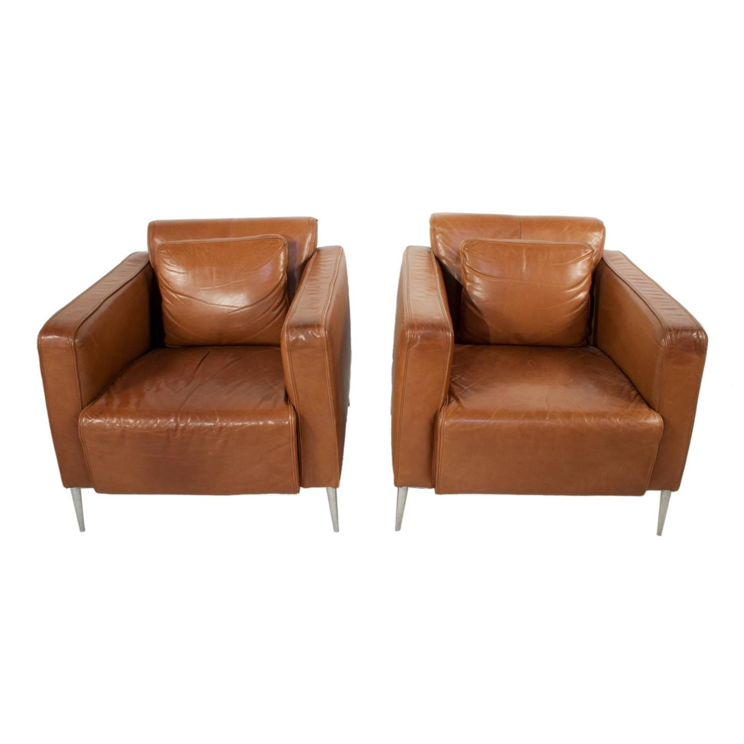 leather club chairs for sale executive office pair of at 1stdibs