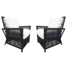 White Wicker Patio Chairs