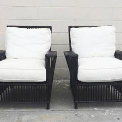 White Wicker Sofa For Sale Outside Bed Or Bamboo Patio Chairs Upholstered In Canvas