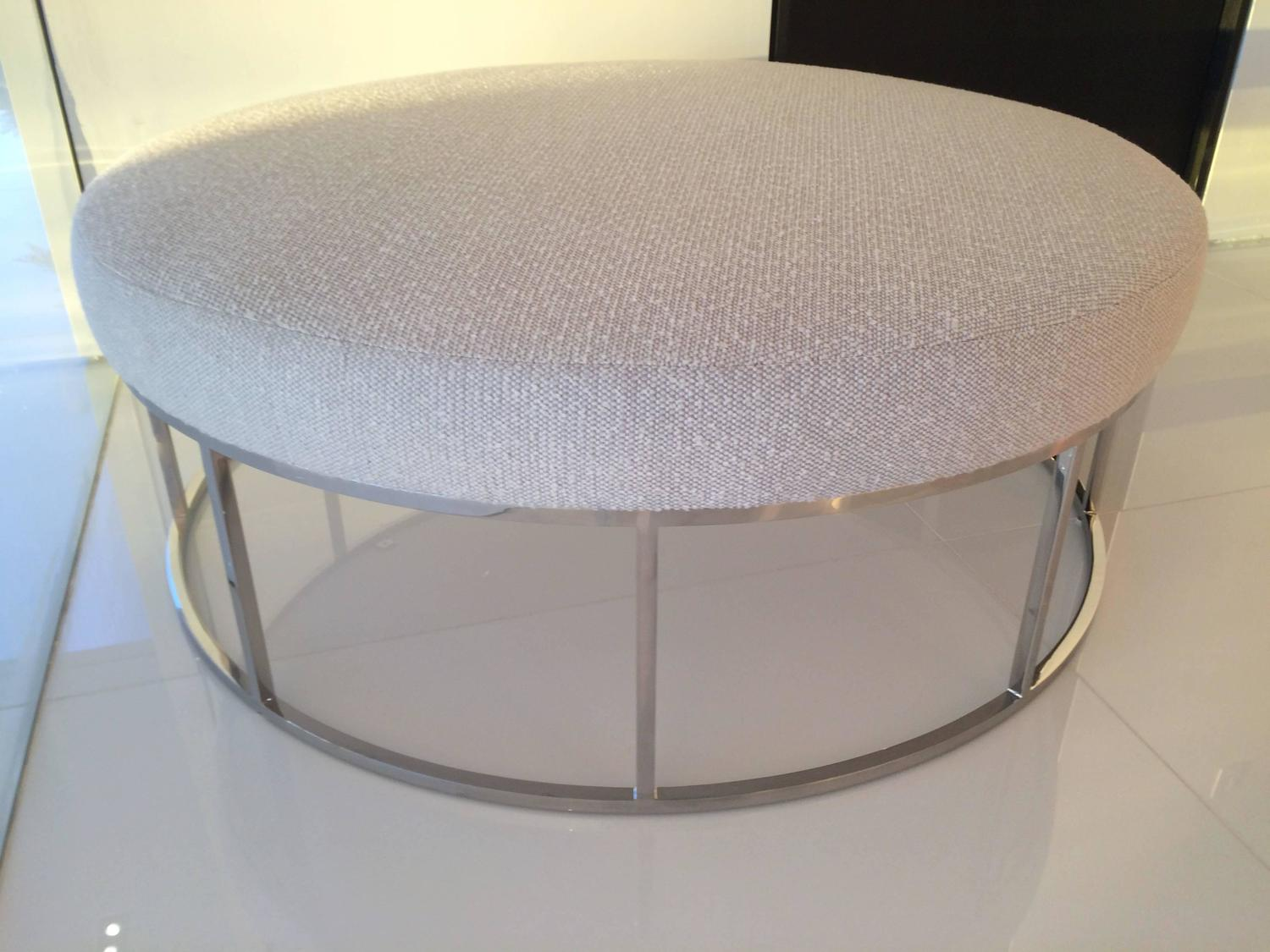 stunning steel chair attacks events by designer covers custom designed round ottoman with stainless