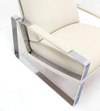 Mid-Century Modern Chrome Lounge Chair and Ottoman at 1stdibs