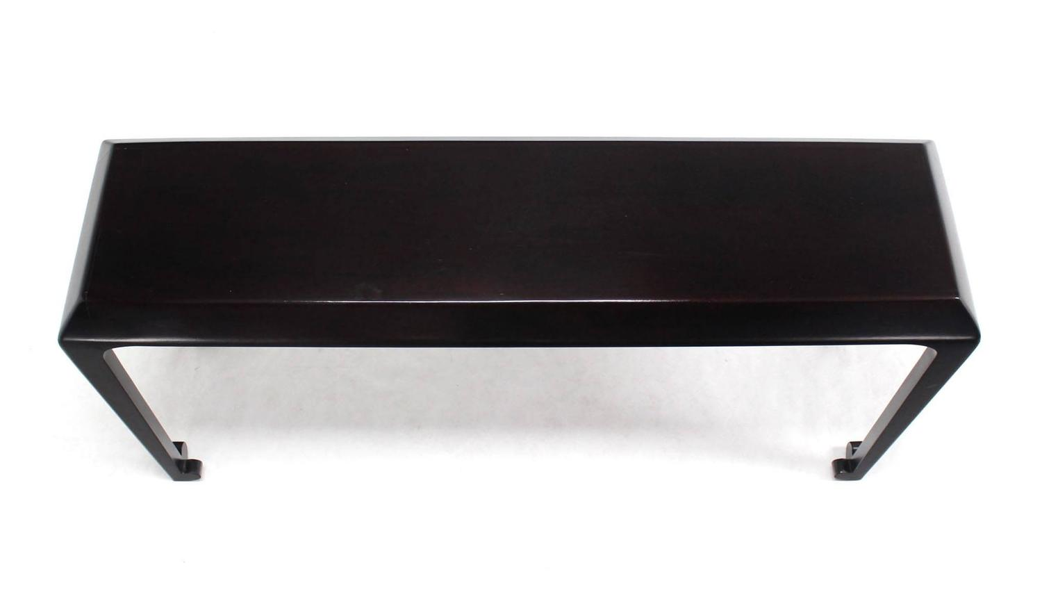 solid cherry sofa table cotton velvet nice console at 1stdibs