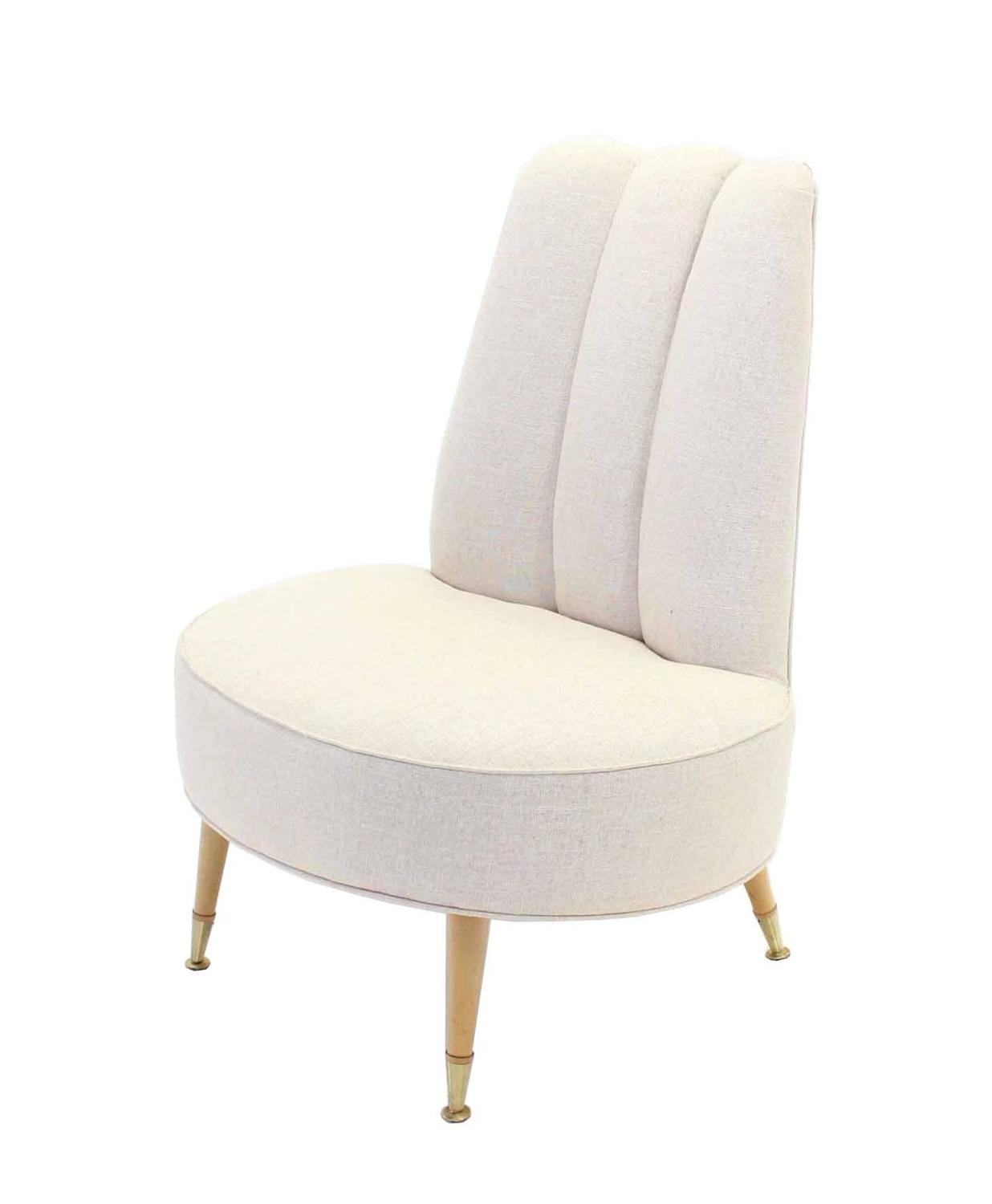 modern slipper chair kneeling office pros and cons newly upholstered mid century chairs for