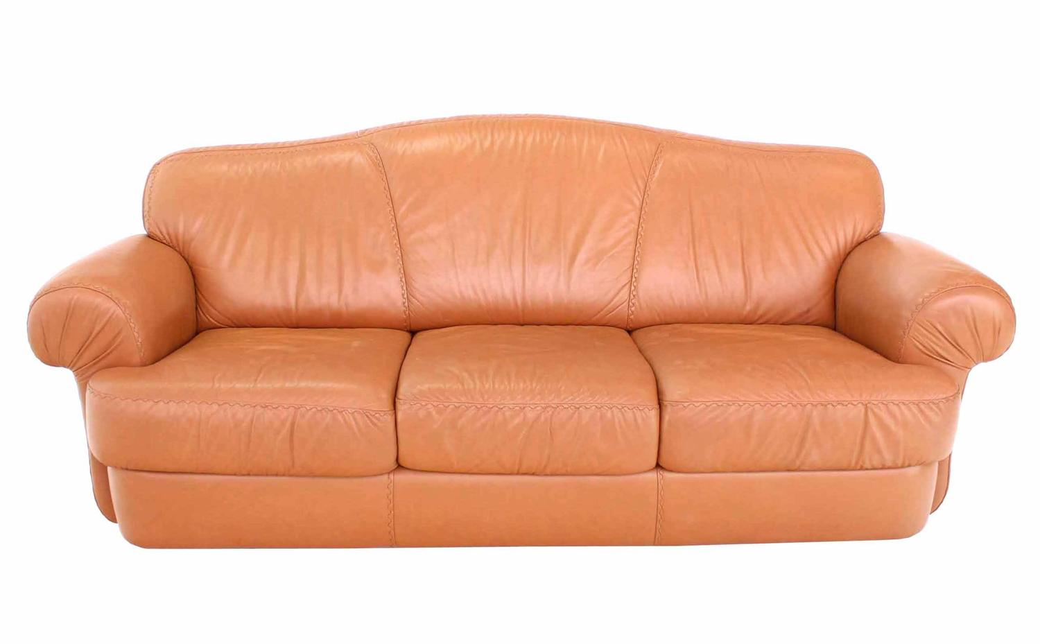 baseball leather sofa fabric and in same room pair of tan decorative style stitching