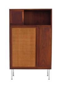 Walnut Cabinet with Cane Door at 1stdibs