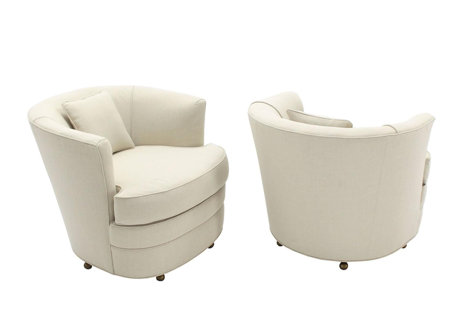 barrel swivel chairs upholstered and stools pair of back new upholstery for sale