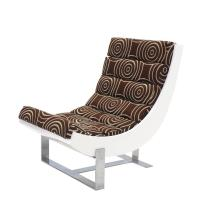 Pair of White Lacquer Chrome Bases Scoop Lounge Chairs Mid ...