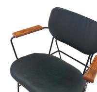 Rare Design Bent Wire Frame Wood Arm Mid-Century Modern ...