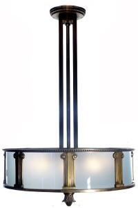 Heavy Bronze Bank Lamp at 1stdibs
