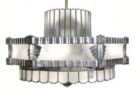 Art Deco Theater Chandelier and Matching Ceiling Fans at ...