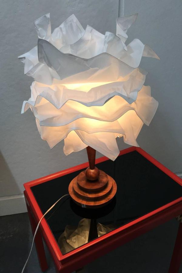 20th Century Art Deco Walnut Desk Lamp 1stdibs