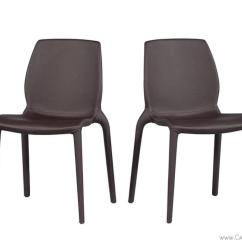 Chocolate Leather Dining Chairs Toilet Chair Accessories Set Of Four Modern Italian