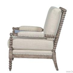 Spool Chair For Sale Green Resin Adirondack Chairs Pair Of Lounge In Soft Taupe Linen