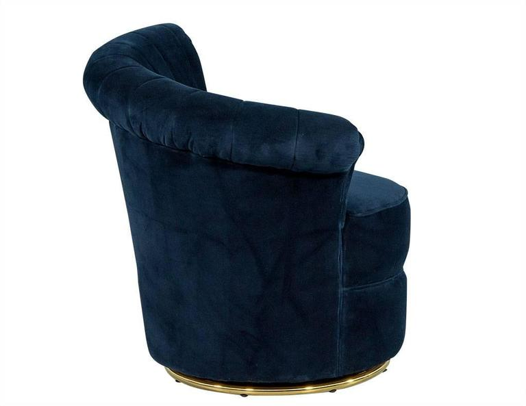 grey velvet slipper chair clear ghost pair of navy blue shell occasional chairs for sale at 1stdibs
