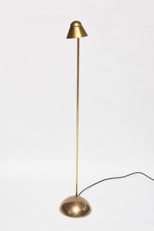 Small Brass Floor Lamp at 1stdibs