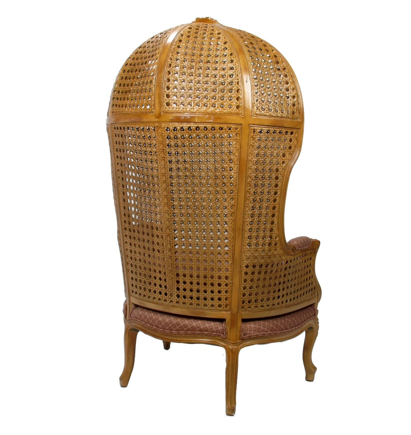 cane back chairs antique dining chair covers homebase vintage hand carved high hooded for sale