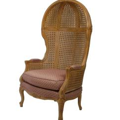 Cane Back Chairs Antique Beauty Shop Vintage Hand Carved High Hooded Chair For Sale