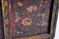Tibetan Hand-Painted Low Cabinet at 1stdibs