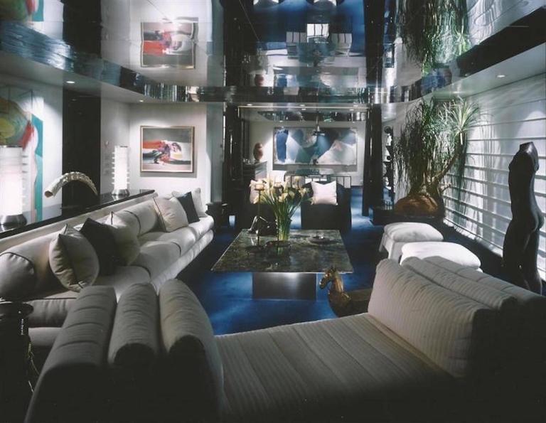 mario bellini chair wine barrel plans juan montoya custom black leather lounge for sale at 1stdibs