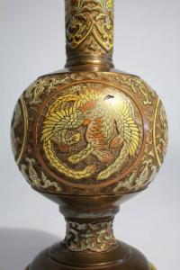 Chinese Bronze Cloisonne Lamp by Marbro For Sale at 1stdibs