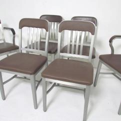 Navy Dining Room Chairs For Little Girls Set Of Six Goodform Industrial Aluminum Quotnavy Quot