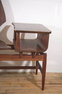 Midcentury Scandinavian Rosewood Telephone Table and Side ...