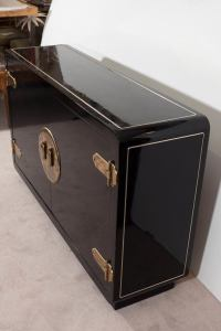 Mastercraft Asian Inspired Cabinet and Sideboard in Black ...