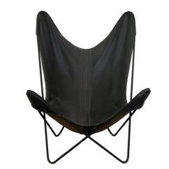 Airborne Butterfly Chair Green Patio Covers Mid Century Modern Style Stackable Iron Framed Leather Chairs For Sale