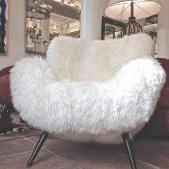 Sheepskin Chair Covers For Recliners Uk Folding Caps Fritz Neth Rarest Spectacular Wood Legged Lounge Chairs