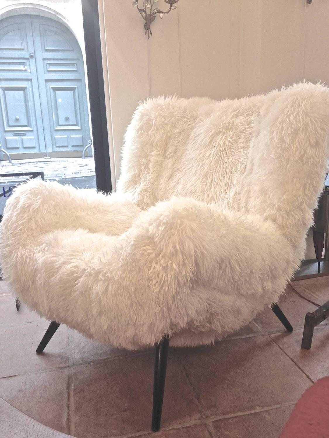 sheepskin chair covers for recliners uk wedding lincoln fritz neth rarest spectacular wood legged lounge chairs