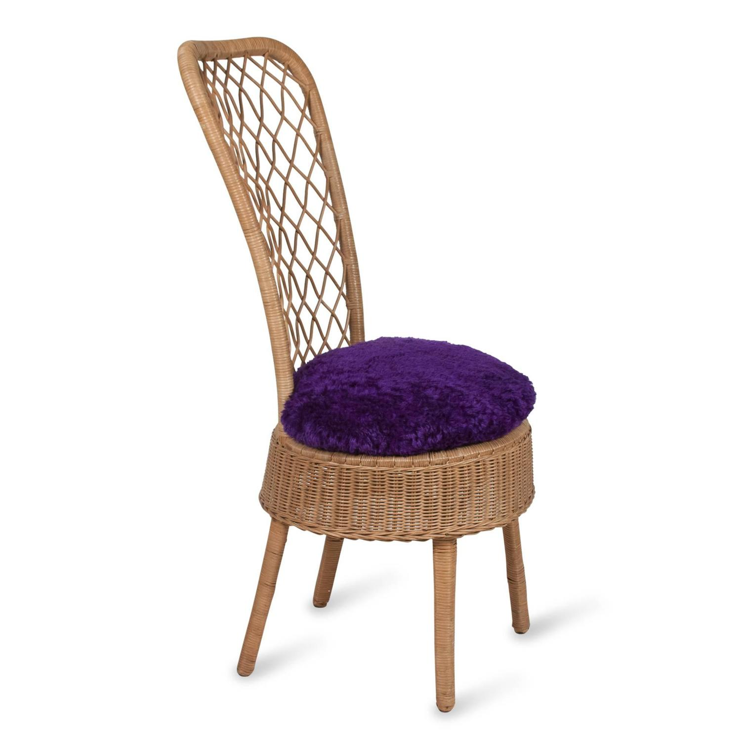 high back wicker chair cushions luna events covers rattan by jean royère for sale at 1stdibs