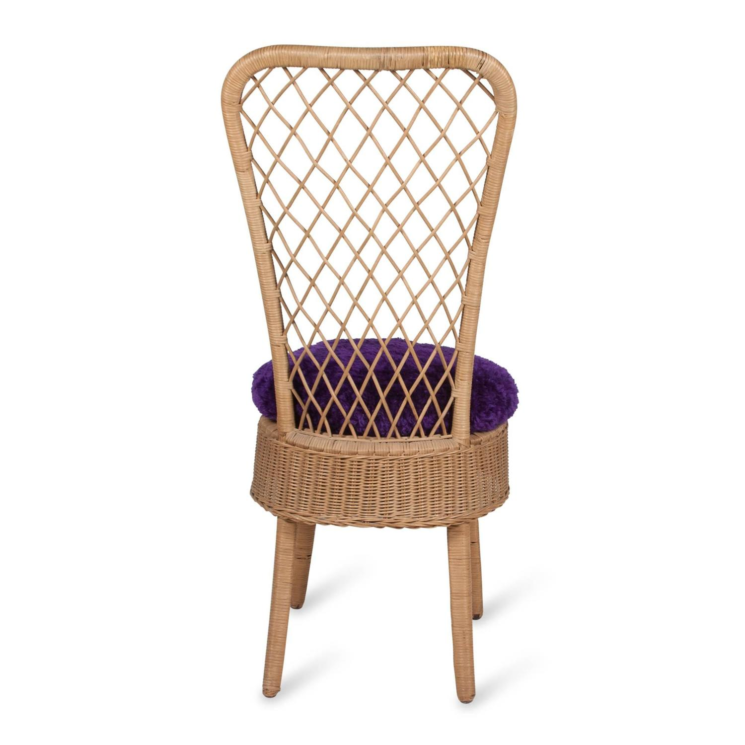 antique high back wicker chairs folding camping walmart rattan chair by jean royère for sale at 1stdibs