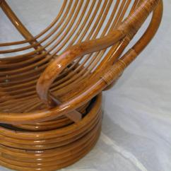 Bamboo Rattan Chair Counter Hight Chairs Pair Of Swivel Lounge Sun Products, Circa 1965, Californian At 1stdibs