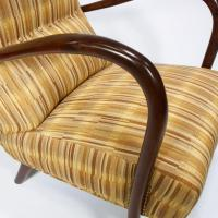 Pair of Italian Mid-Century High Back Chairs with Bentwood ...