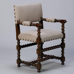 Barley Twist Chair Simply Covers And Bows Set Of Six Spanish Chairs At 1stdibs