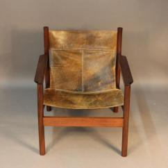 Sling Back Chair Bariatric Transport Michel Arnoult Distressed Leather At 1stdibs Made In Argentina Safari