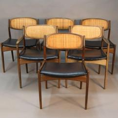 Dining Chairs With Caning Berlin Gardens Adirondack Chair Set Of Six Danish Modern Selig Walnut Caned Back Signed These Are In Excellent Condition No Issues Any