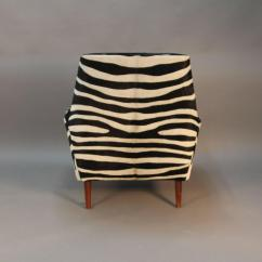Zebra Print Chairs For Sale Plush Rocking Chair Nursery Pair Of Newly Upholstered In Cowhide Mid