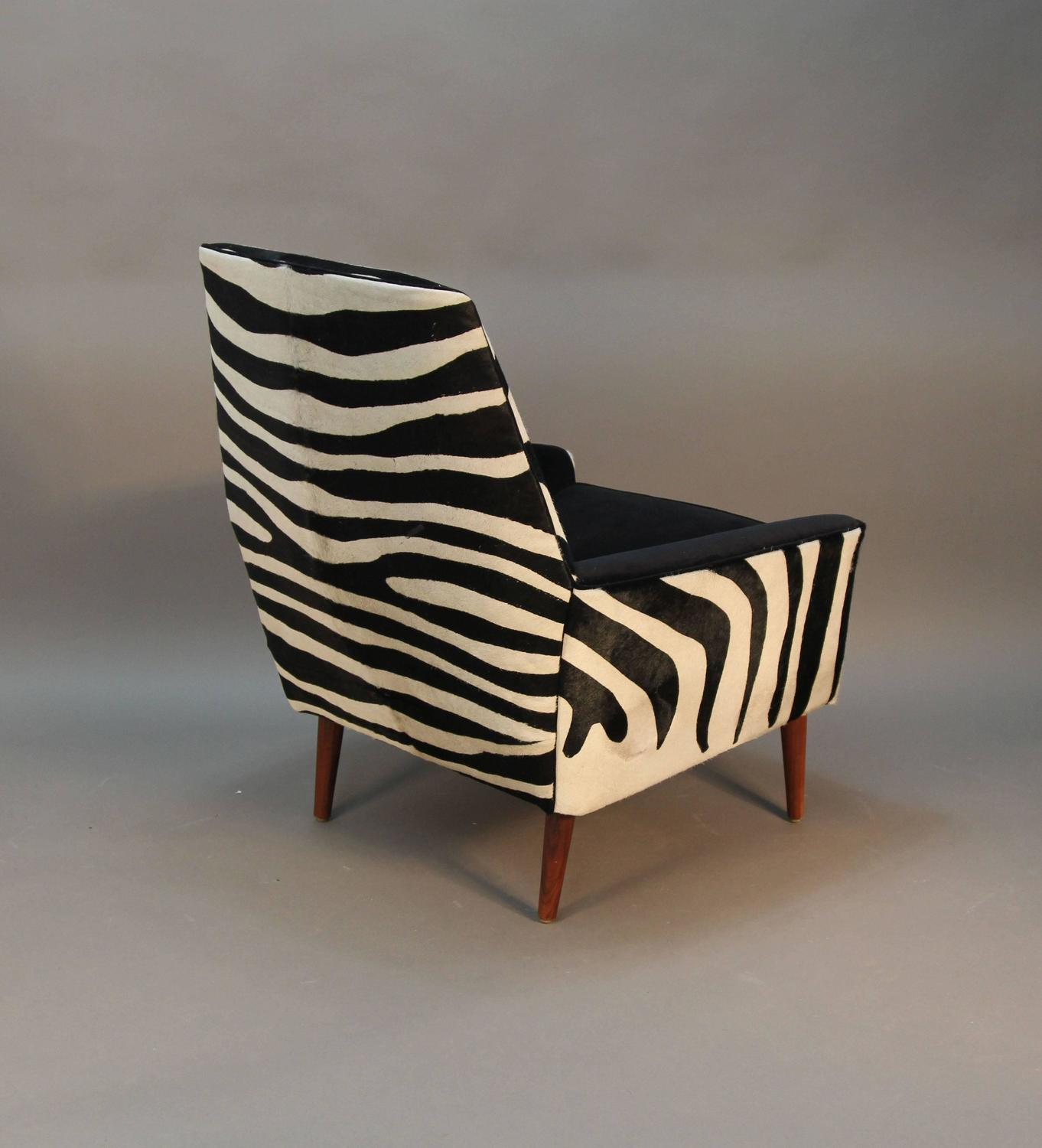 zebra print chairs for sale fishing chair brolly clamp pair of newly upholstered in cowhide mid