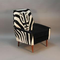 Zebra Print Chairs For Sale Glider Or Rocking Chair Baby Pair Of Newly Upholstered In Cowhide Mid