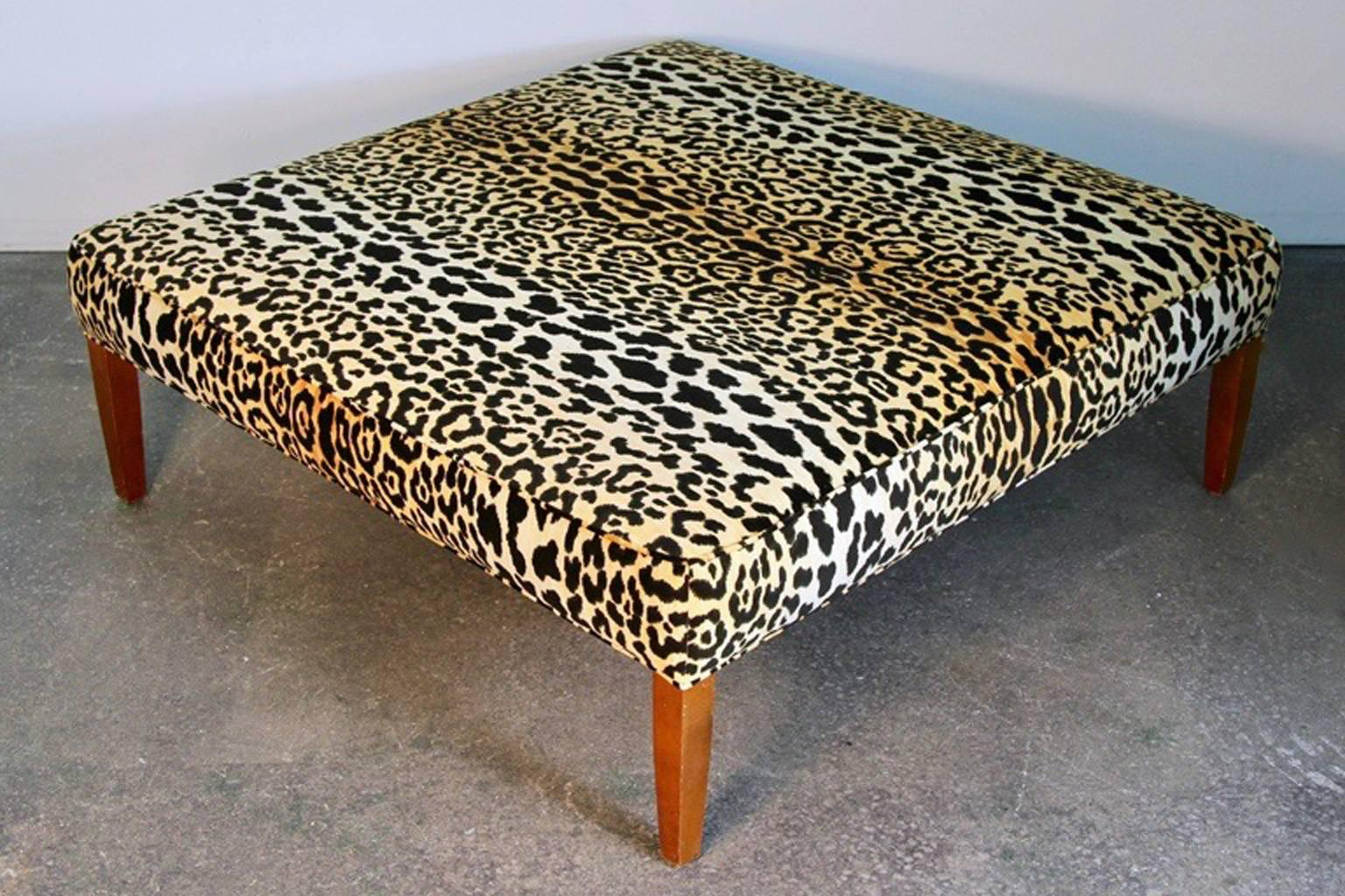 leopard print ottoman or coffee table