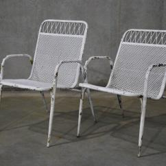 Metal Stacking Chairs Outdoor Wicker Accent 1960 Set Of Six Adjustable And