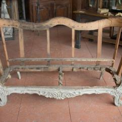 Sofa Frame Standard Size In Inches 19th Century Carved Wood At 1stdibs Baroque Revival For Sale
